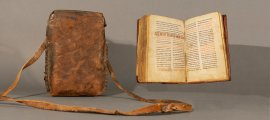 Coptic Bible and Case: