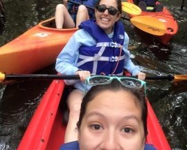 Kayaking with my a cappella group during our Winter Tour!