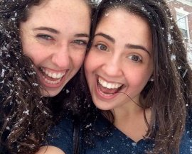 Last year we had a much snowier winter than this one, so a friend and I celebrated with some impromptu selfies :)