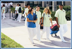 Miami Dade students walking from class