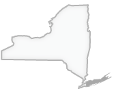New York state map with the Long Island Region identified
