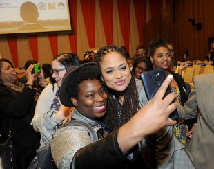 Students at the event got to meet and take selfies with director Ana Duvernay. (Photo credit: U.S. Department of Education)