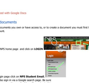 Google Docs Login page for students