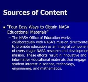 nasa education materials -#main