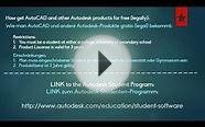 Autodesk AutoCAD free download liscense student program