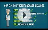 Student Web Hosting - £14.99 per year